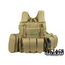 Deltacs CIRAS Type Tactical Vest - Tan